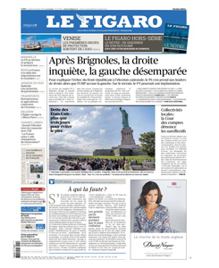 journal Le Figaro du 15 octobre 2013