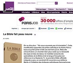 article du site de France Culture du 21 novembre 2013